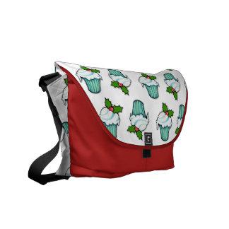Weihnachtsstechpalmen-Kuchen-mittlere Bote-Tasche Kuriertasche