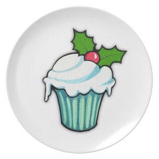 Weihnachtsstechpalmen-Kuchen-Platte Melaminteller