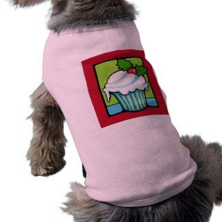 Weihnachtsstechpalmen-Kuchen-roter HundeT - Shirt
