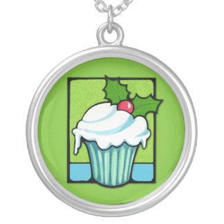 Weihnachtsstechpalmen-Kuchengrün Halskette