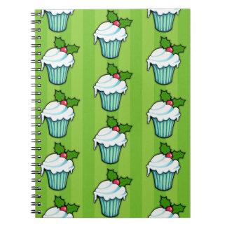 Weihnachtsstechpalmen-Kuchengrün Notizbuch 2 Notizblock