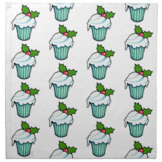 Weihnachtsstechpalmen-Kuchenmuster Tafelserviette Stoffserviette