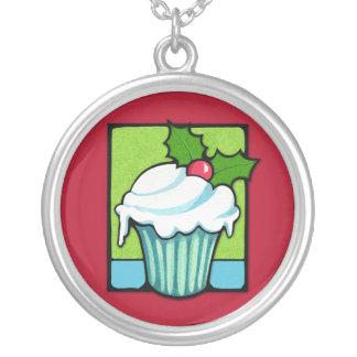 Weihnachtsstechpalmen-Kuchenrot Halskette