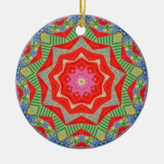 Weihnachtssteppdecken-Fraktal Keramik Ornament