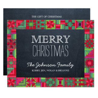 Weihnachtssteppdecken-Tafel-Weihnachtskarte 10,8 X 14 Cm Einladungskarte