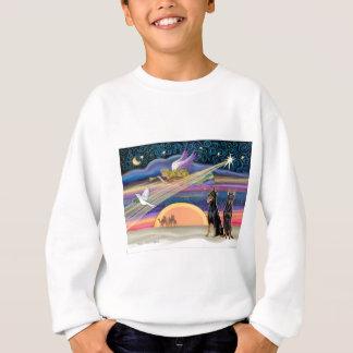Weihnachtsstern - Dobermann (Schwarzes zwei) Sweatshirt
