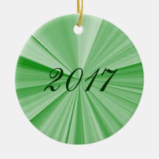 Weihnachtsstern-Grün-Verzierung 2017 durch Janz Rundes Keramik Ornament