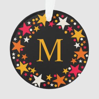 Weihnachtsstern-Kranz-Monogrammverzierung Ornament