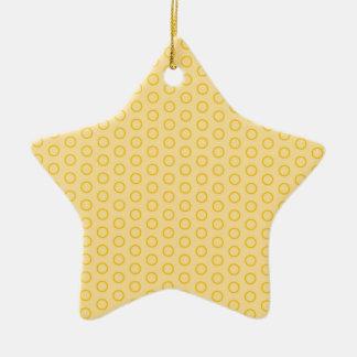 Weihnachtsstern mit Pünktchen, Polka dot , Punkte Keramik Stern-Ornament