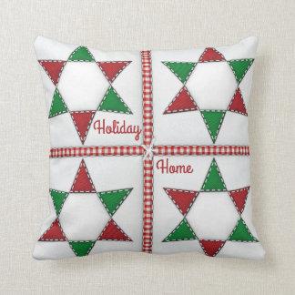 Weihnachtsstern-Steppdecken-Feiertags-Zuhause Kissen