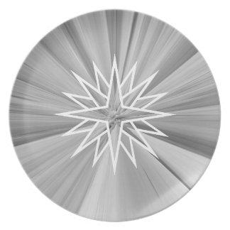 Weihnachtsstern-Umhüllungs-Platte Teller