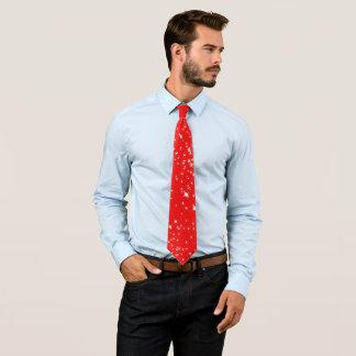 Weihnachtssterne auf (Ihre Farbe) Personalisierte Krawatte