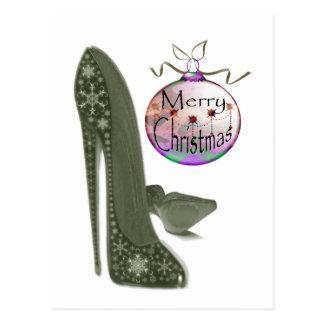 WeihnachtsStilett-Schuh-und Postkarte
