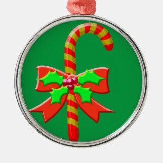 Weihnachtsstock Silbernes Ornament