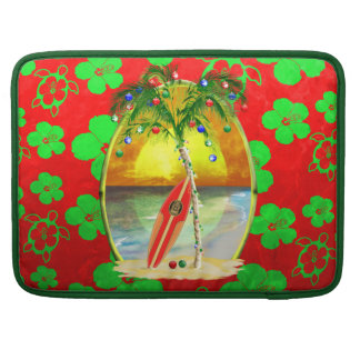 Weihnachtsstrand-Sonnenuntergang MacBook Pro Sleeve