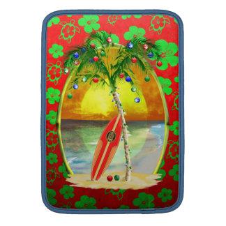 Weihnachtsstrand-Sonnenuntergang MacBook Sleeve