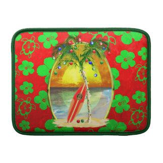Weihnachtsstrand-Sonnenuntergang Sleeve Fürs MacBook Air