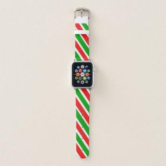 Weihnachtsstreifen Apple Watch Armband