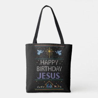 WeihnachtsStrick-alles Gute zum Geburtstag Jesus Tasche