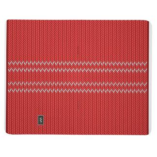 Weihnachtsstrickjacke-Muster Taschennotizbuch