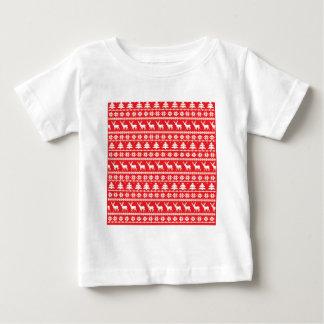 Weihnachtsstrickjacke-nordische Volksverzierung Baby T-shirt