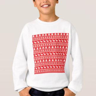 Weihnachtsstrickjacke-nordische Volksverzierung Sweatshirt