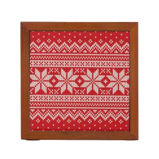 Weihnachtsstrickjacke-strickendes Muster - ROT Stifthalter