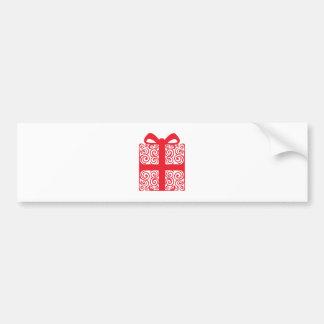 Weihnachtsstrudel-Geschenk Autoaufkleber