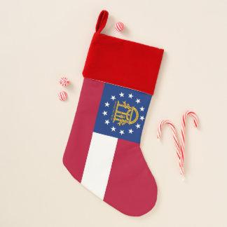 WeihnachtsStrumpf-Flagge von Georgia, USA Weihnachtsstrumpf
