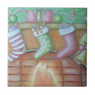 WeihnachtsStrumpf Keramikfliese