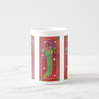WeihnachtsStrumpf-Tasse Porzellantasse