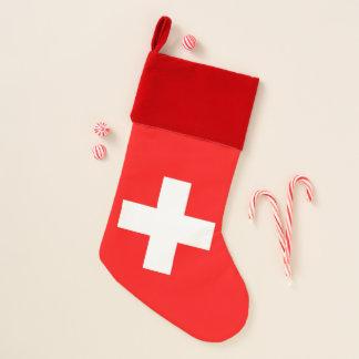 WeihnachtsStrümpfe mit Flagge von der Schweiz