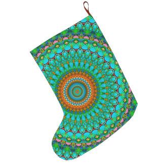 WeihnachtsStrumpfgeometrischer Mandala G388 Großer Weihnachtsstrumpf