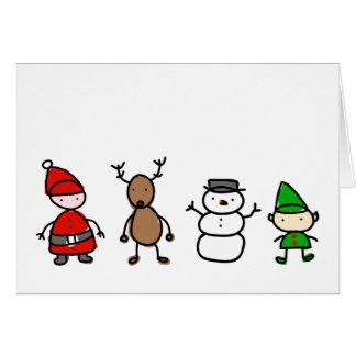 WeihnachtsSüsse-Kinderart-Karte Karte