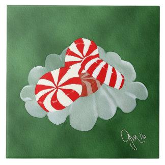 Weihnachtssüßigkeit Große Quadratische Fliese