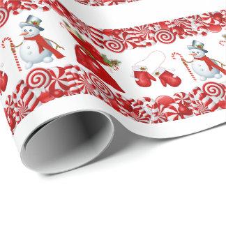 Weihnachtssüßigkeit und Sachen-Packpapier Geschenkpapier