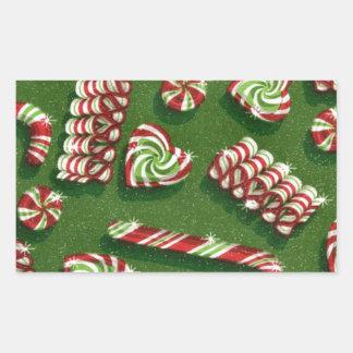 Weihnachtssüßigkeiten Rechteckiger Aufkleber
