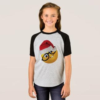 WeihnachtsT - Shirtentwurf Geek emoji Sankt T-Shirt