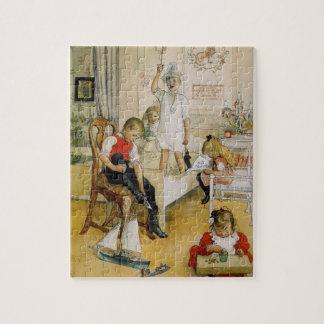 Weihnachtstag im Kinderzimmer Puzzle