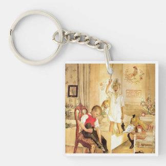 Weihnachtstag im Kinderzimmer Schlüsselanhänger