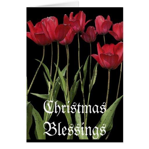 """""""Weihnachtstages"""" rote Tulpe-Karte u. Gedicht"""