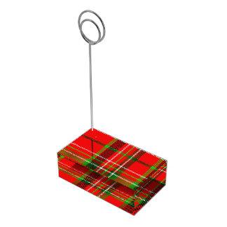 Weihnachtstartan-Muster Tischkartenhalter