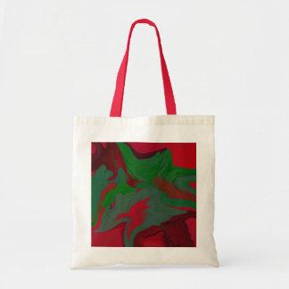 WeihnachtsTasche im abstrakten Entwurf des roten Tragetasche
