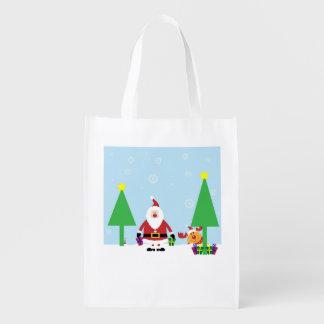 Weihnachtstasche Wiederverwendbare Einkaufstasche