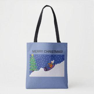 WeihnachtsTaschentasche mit schneebedecktem Tasche