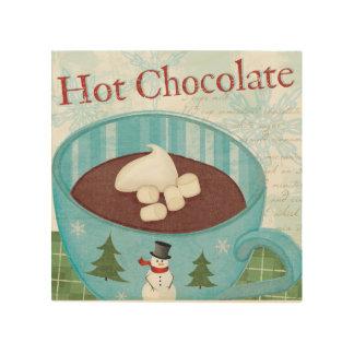 WeihnachtsTasse mit heißer Schokolade Holzdruck