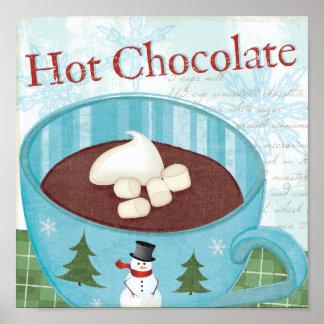 WeihnachtsTasse mit heißer Schokolade Poster