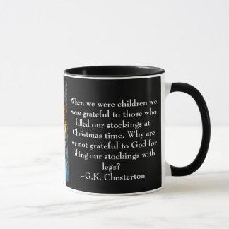 WeihnachtsTasse mit Zitat G.K. Chesterton Tasse