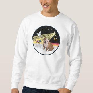 Weihnachtstaube (R) - englische Bulldogge 1 Sweatshirt
