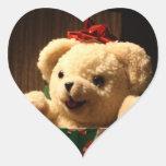 WeihnachtsTeddybär-Aufkleber Herz Sticker